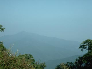 An example of poor air quality at Shining Rock Wilderness. Click to see larger image